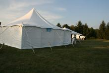The main tent hosted 3 presentations