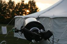 Ritchy Chretien telescope pointing at Sun