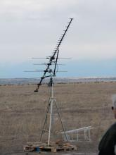 Log dipole antenna on Table Mountain