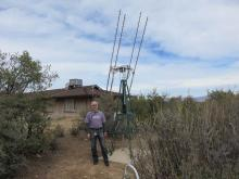 President Ken Redcap admiring the Yagi array